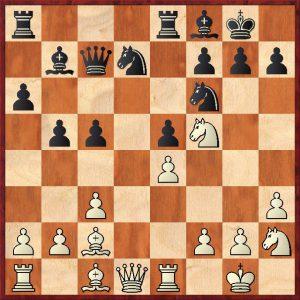Partida Terán Borisek tras la jugada 17...c5